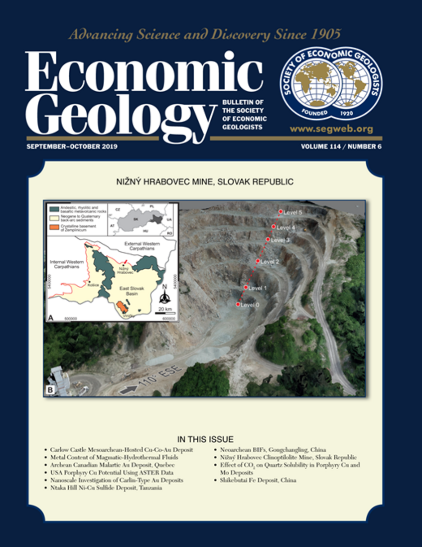 Cover Page of Economic Geology